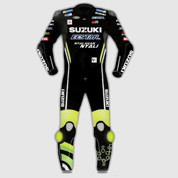 Andrea Iannone Suzuki Motogp Motorcycle Black Leather Suit 2018
