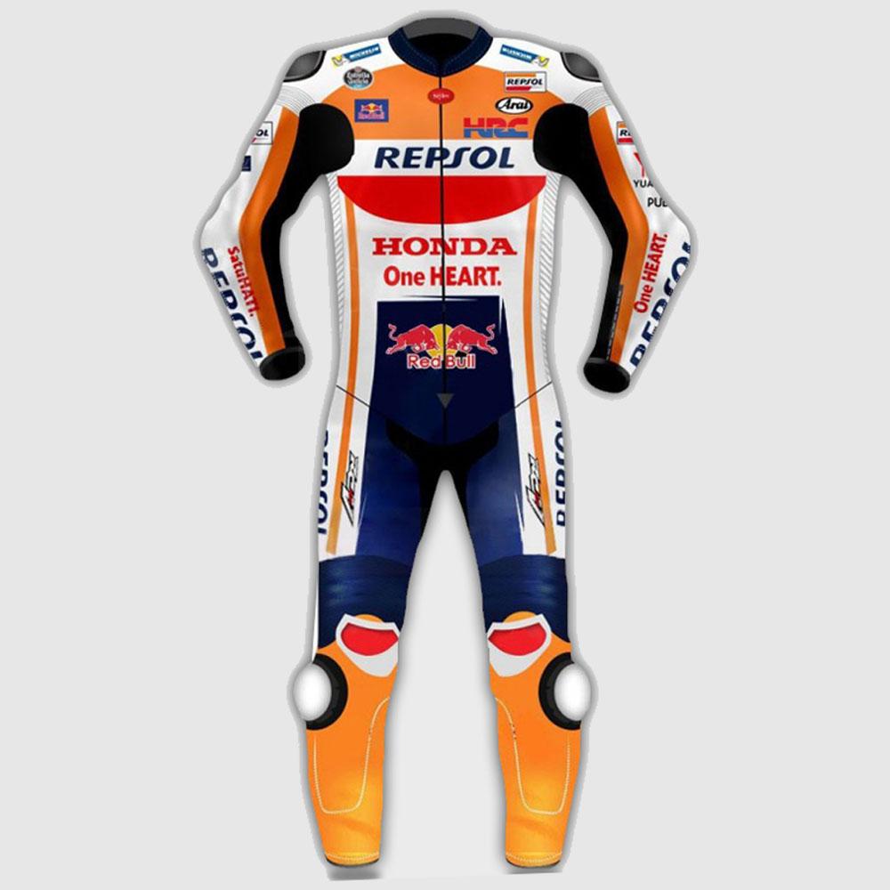 Marc Marquez Honda Repsol MotoGp Motorcycle Leather Suit 2018