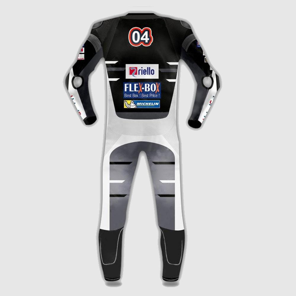 Andrea Dovizioso Ducati Motogp Motorcycle Black Leather Suit 2018