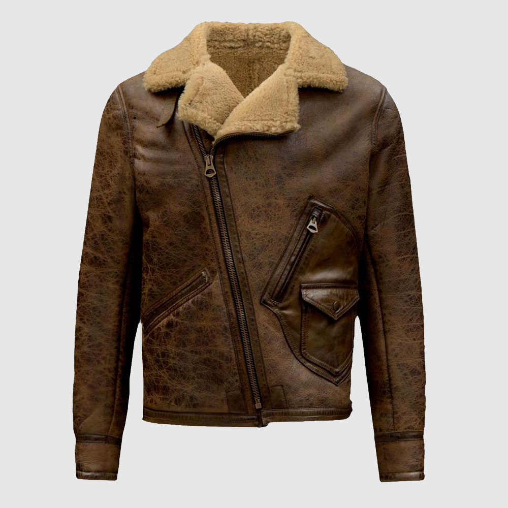 Aquaman Jason Momoa Justice League 2017 Movie Brown Leather Fur Coat