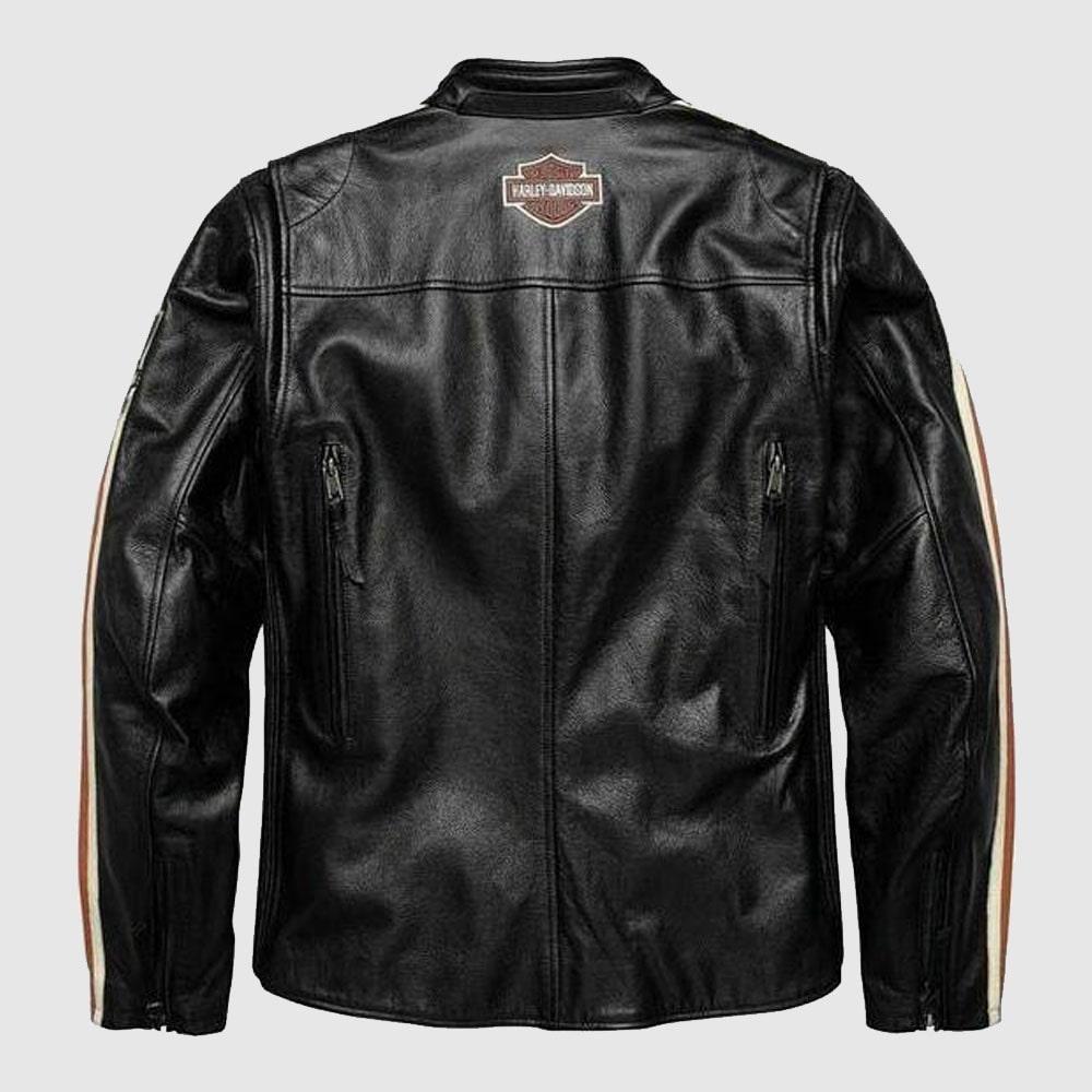 Black Harley Davidson Biker Motorcycle jacket Motor Biker Real Genuine Cowhide Leather Jacket