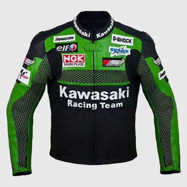 Kawasaki Racing Team Leather Motorcycle Jacket