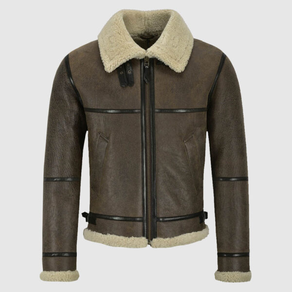 Men B3 Brown Air Force Shearling Jacket