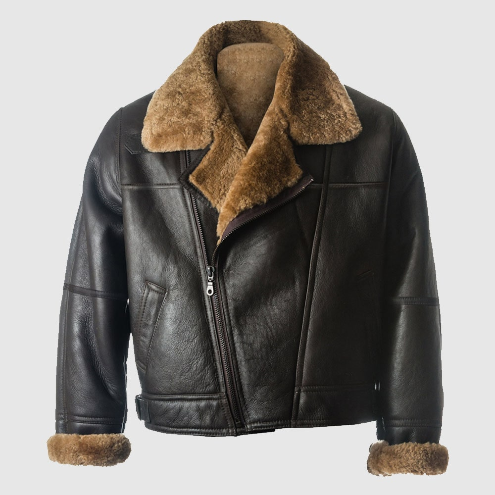 Men Black B3 Sheepskin Jacket