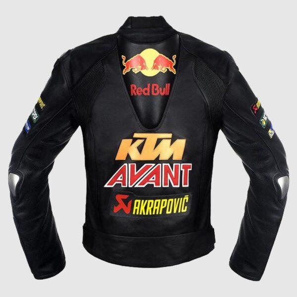 Men's KTM RedBull Motorcycle Racing Leather Jacket