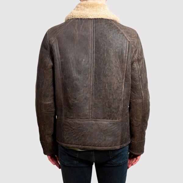 Mens Sheepskin Jacket - Nappa Leather Aviator Style Bomber Coat