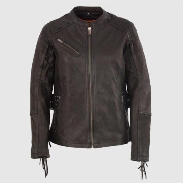 Scuba Cycle Style Fashion Leather Jacket