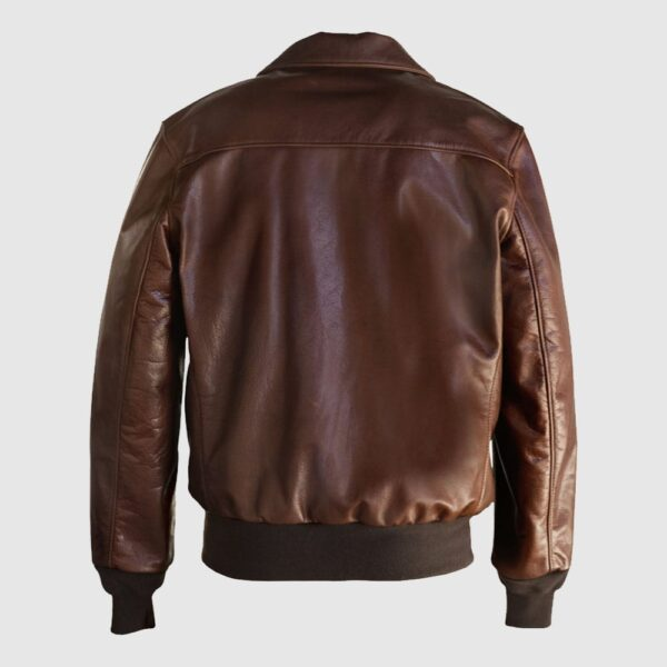 Waxed Natural Pebbled Cowhide A-2 Leather Flight Jacket