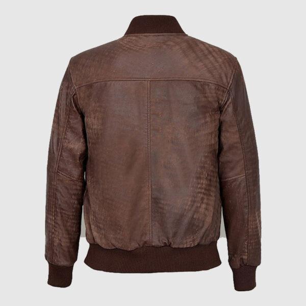 Men Vintage Brown Bomber Jacket