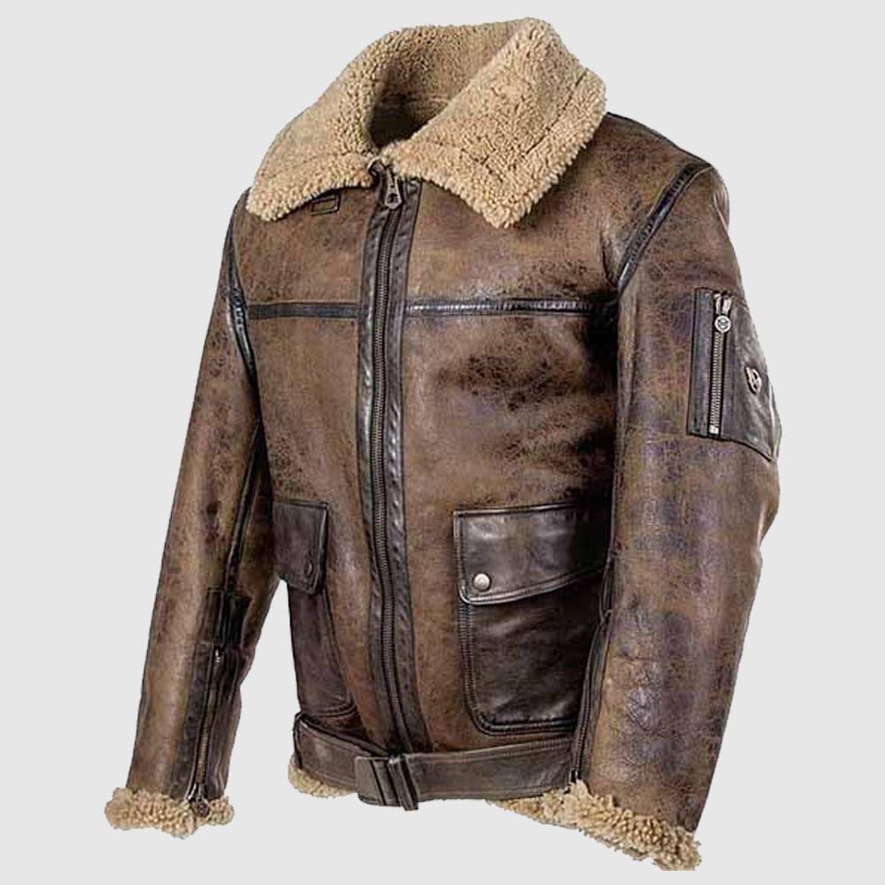 Arnold Schwarzenegger Aviator B-6 Jacket sheepskin jacket-min