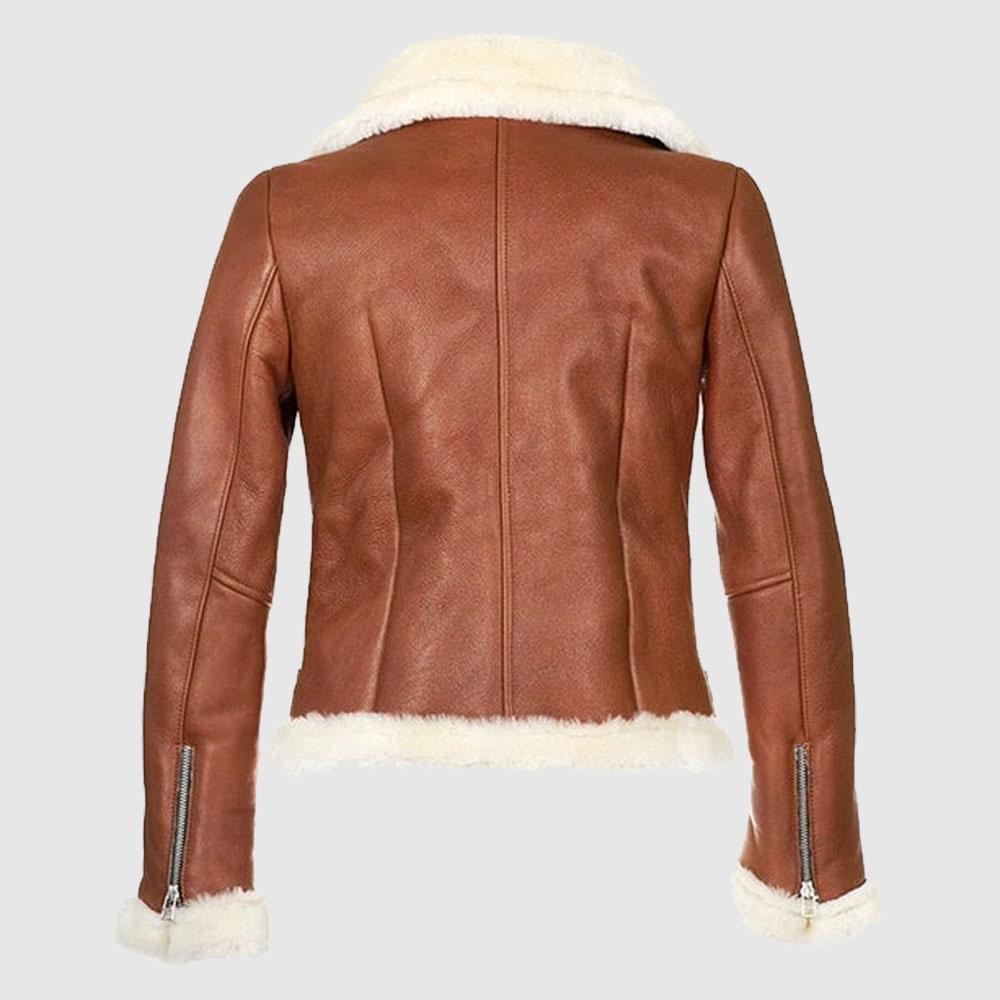 B3 Bomber Aviator Brown Leather Jacket