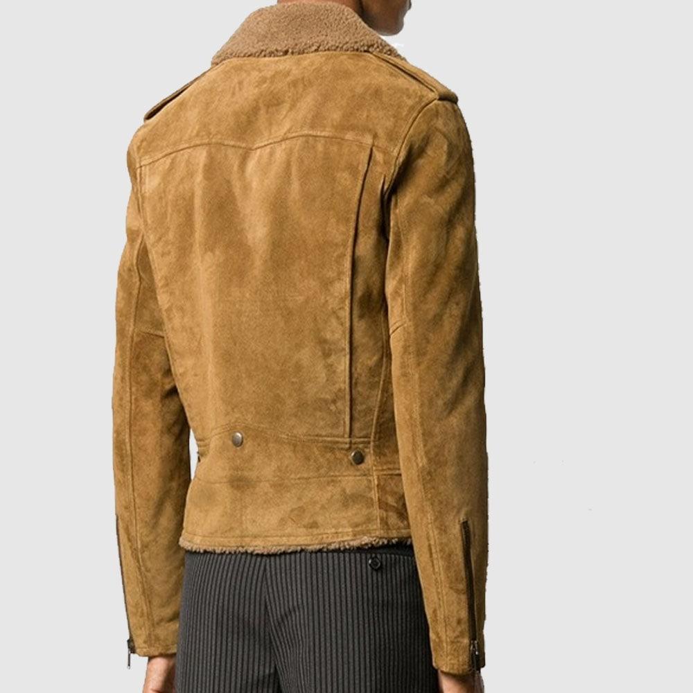 Brazilian Mud Motorcycle Jacket Men Fashion Leather Jacket