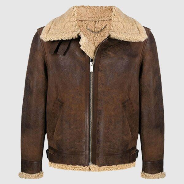 Golder Sheep Shearling Leather Jacket