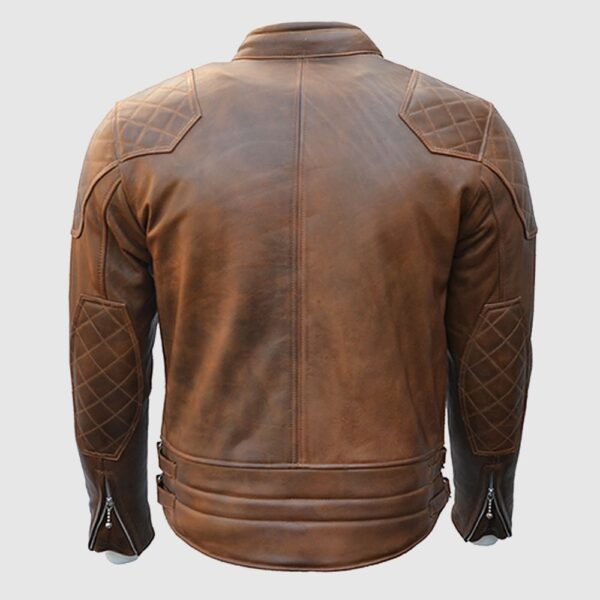 Goldtop 76 Armoured Leather Jacket – Brown