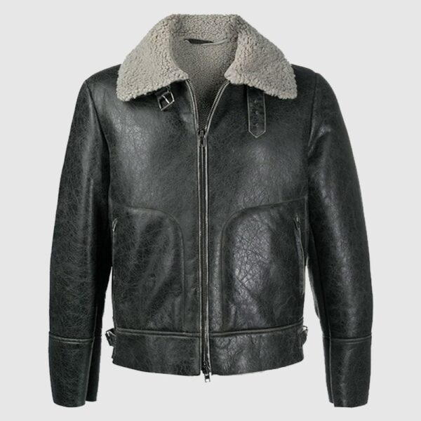 Grey Forest Aviator Jacket sheepskin jacket shearling jacket
