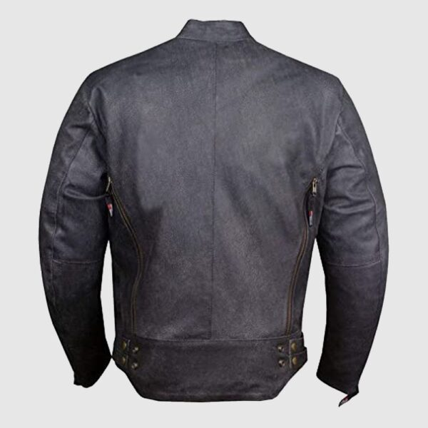 Men's Shade Distress Leather Motorcycle Jacket