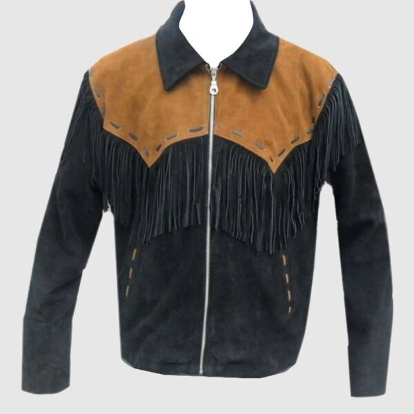 Men's Western coat cowboy suede leather jacket