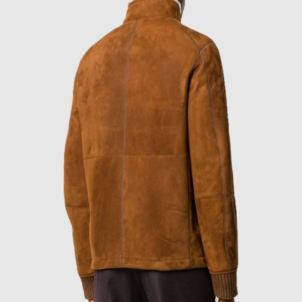 Saboro Brown Leather Shearling Jacket Suede jacket