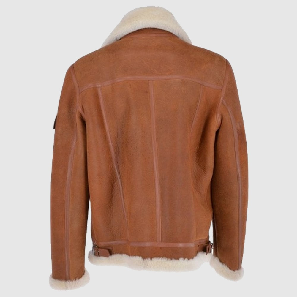 Luxury Eredin Sheepskin Pilot Tan Jacket