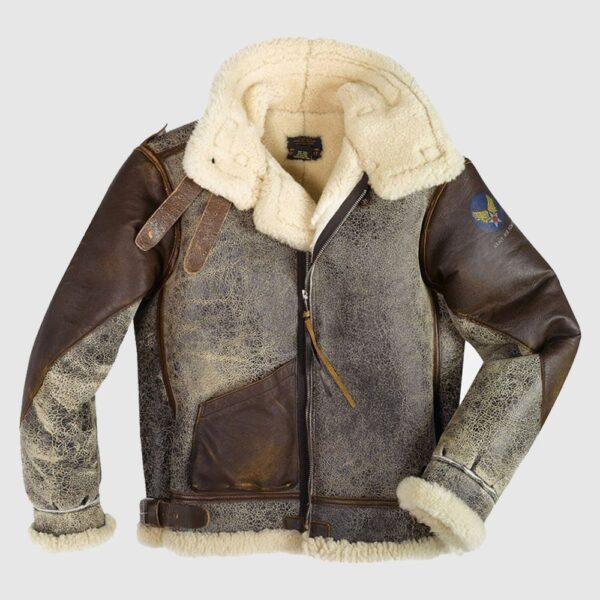 100 Mission B-3 Leather Bomber Jacket