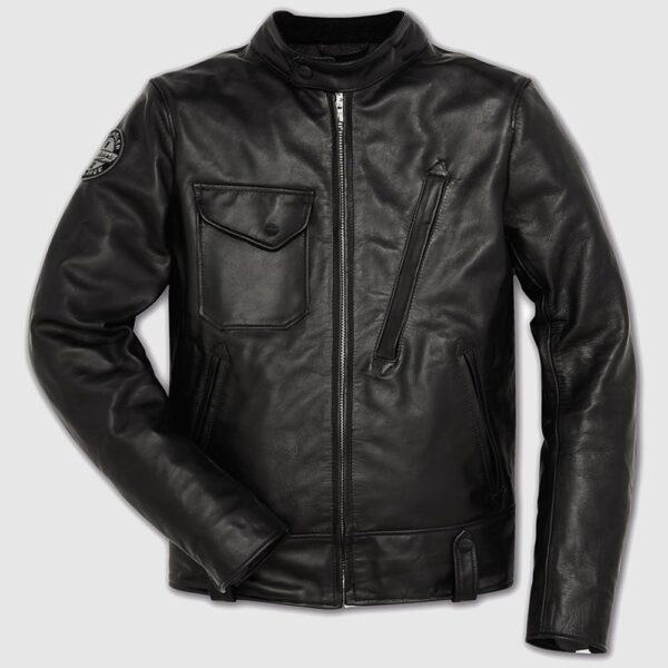 Black Café Racer Leather jacket
