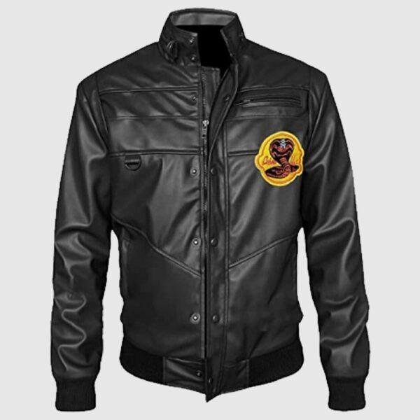 Cobra Kai Black & Red Karate Kid Leather Jacket