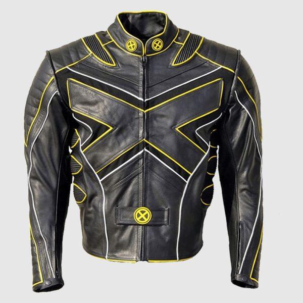 Coolhides Men's Xmen Motorcycle MotoGP Leather Jacket