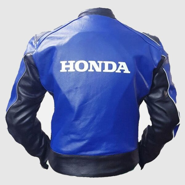 Cowhide Honda Blue Racing Motorbike MotoGP Leather Jacket