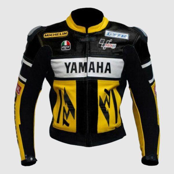 Handmade Mens Yamaha Cowhide Motogp Leather Jacket