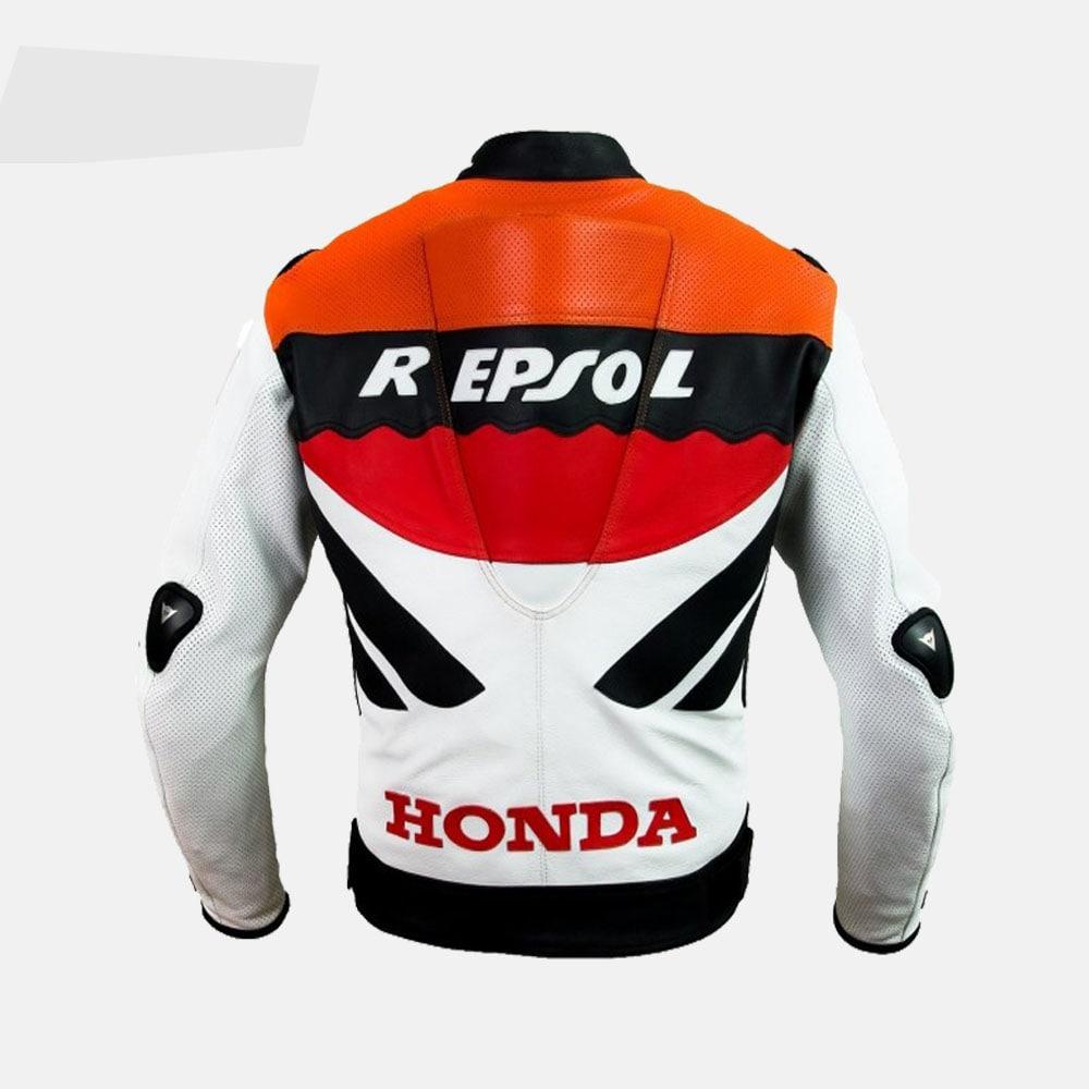 Honda Repsol Team Motorbike Racer Custom MotoGP Leather Jacket