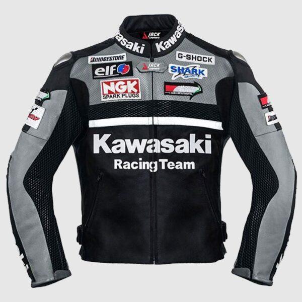 Kawasaki Gray Racing MotoGp Leather jacket