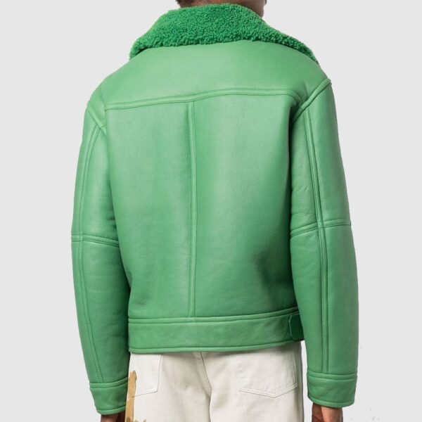 Ambush Shearling Aviator Jacket Fern Green