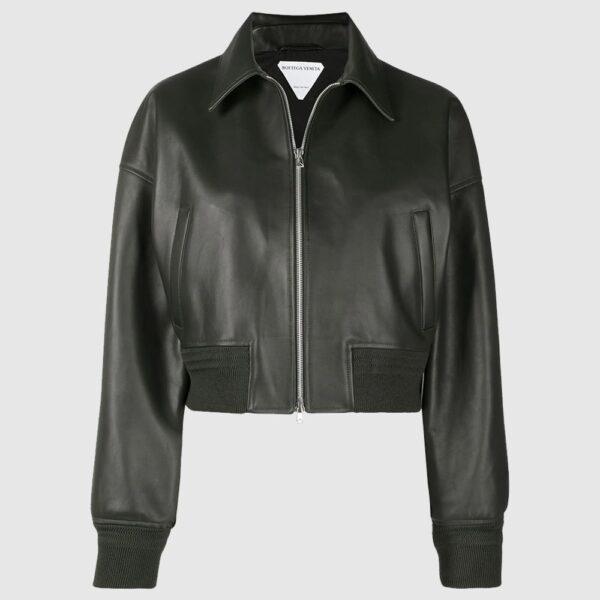 Bottega Veneta leather bomber-style jacket