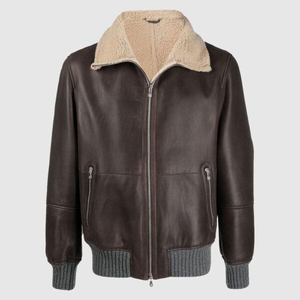 Brunello Cucinelli aviator leather jacket Sheepskin Jacket