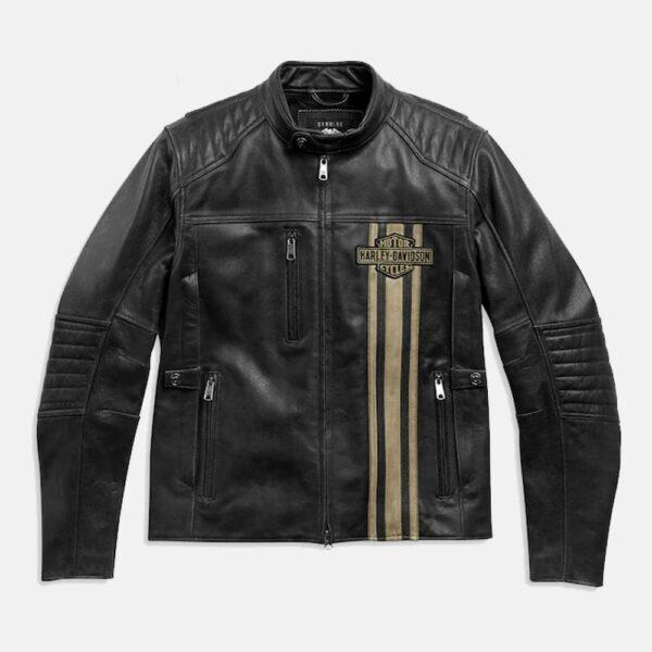 Genuine High Quality Black Harley Davidson Leather Jacket