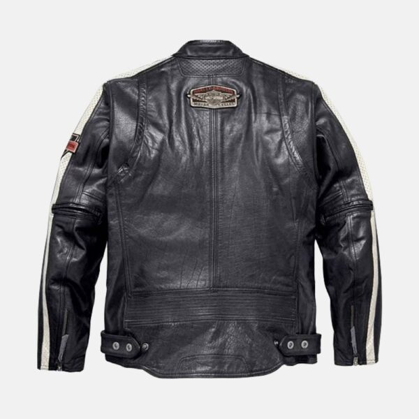 Harley Davidson Command Mens Motorcycle Mid-Weight Leather Jacket