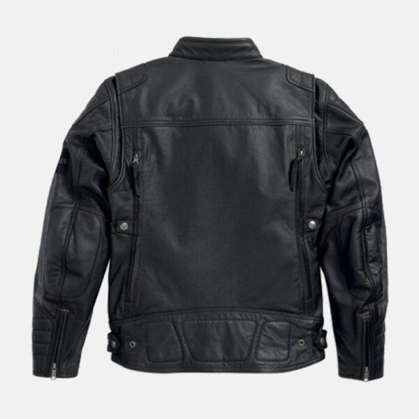 Harley Davidson Mens Exmoor Reflective Wing Motorcycle Leather Jacket