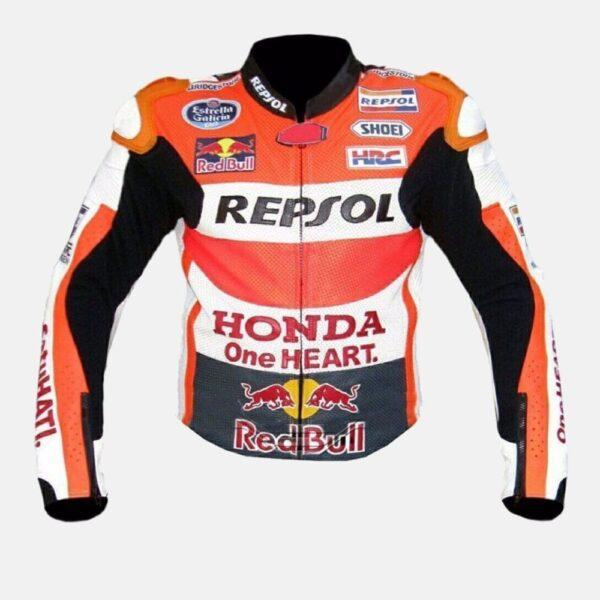 Honda Repsol One Heart Racing Motorbike Motogp Leather Jacket