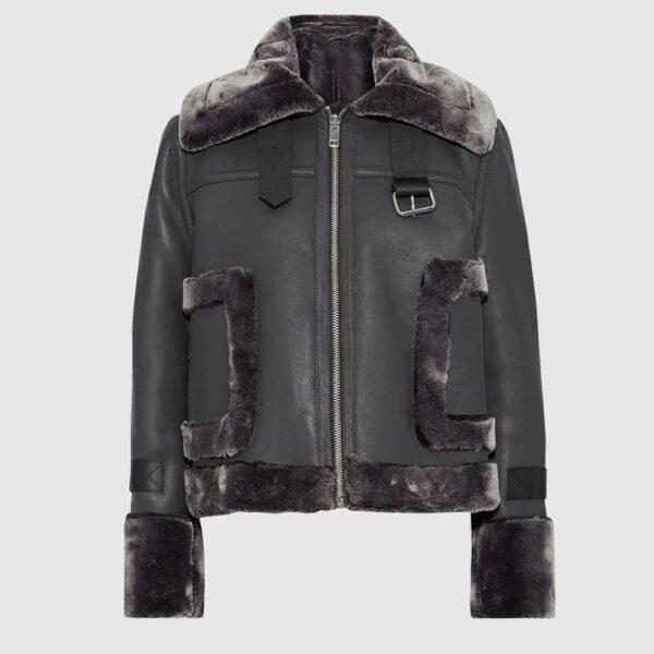 Lianna Faux Fur Trimmed Leather Jacket