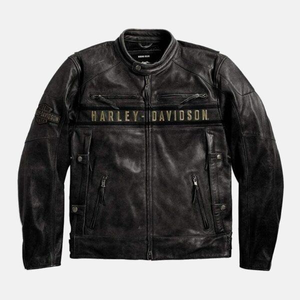 Harley Davidson Jacket Motorcycle Vintage Jacket Black Leather Jacket