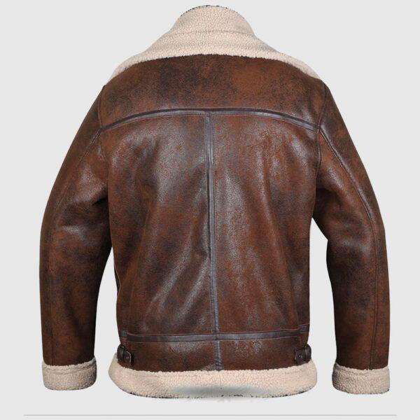 Brown B3 Shearling Sheepskin WW 2 Bomber Leather Jacket