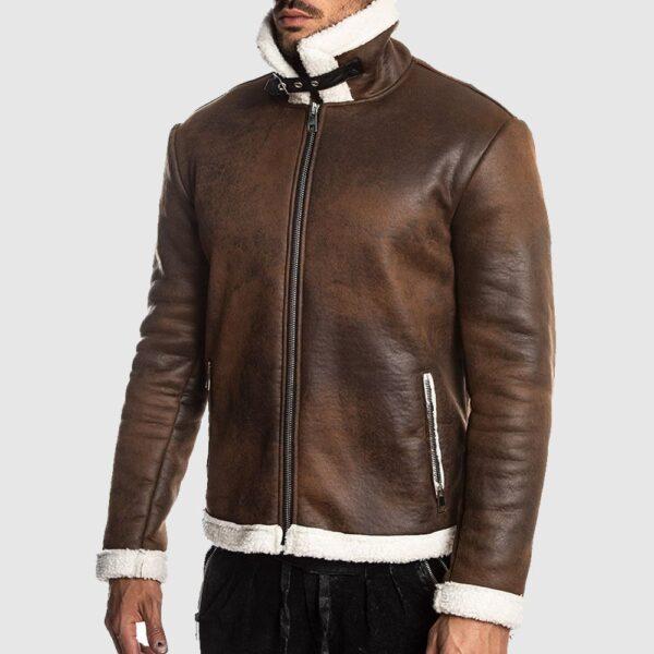 Alberto Mens Brown Aviator Jacket