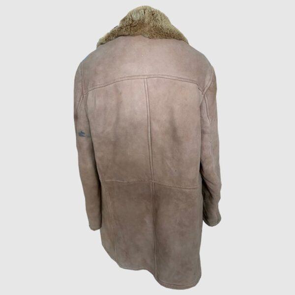 Sheepskin Vintage Aviator Jacket - bomber jacket shearling leather suede