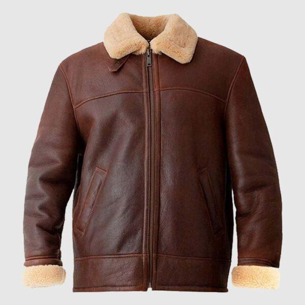 Andrews Mens Brown Aviator Jacket