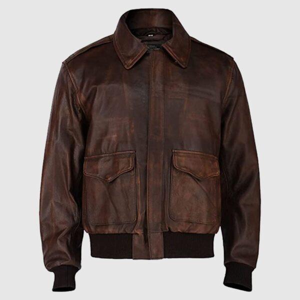 Aviator Brown WWII Flying Jacket Bomber Leather Jacket Men