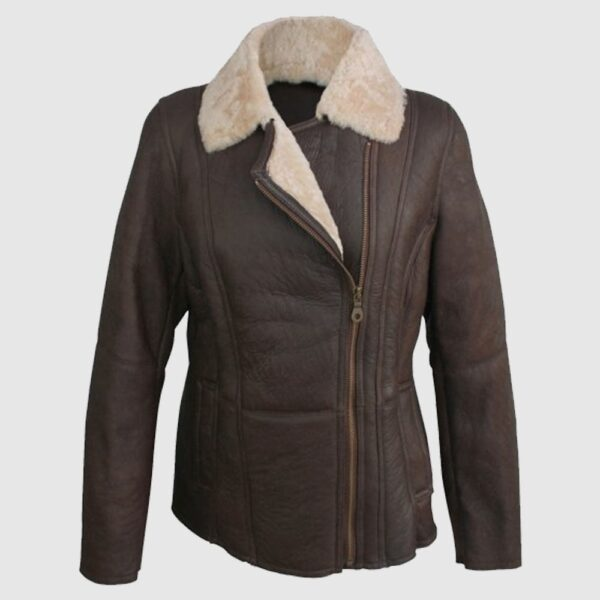 Eastern Counties Leather Womens Celene Aviator Sheepskin Coat
