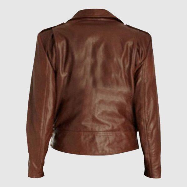 Emma Watson Slim Fit Brown Leather Jacket