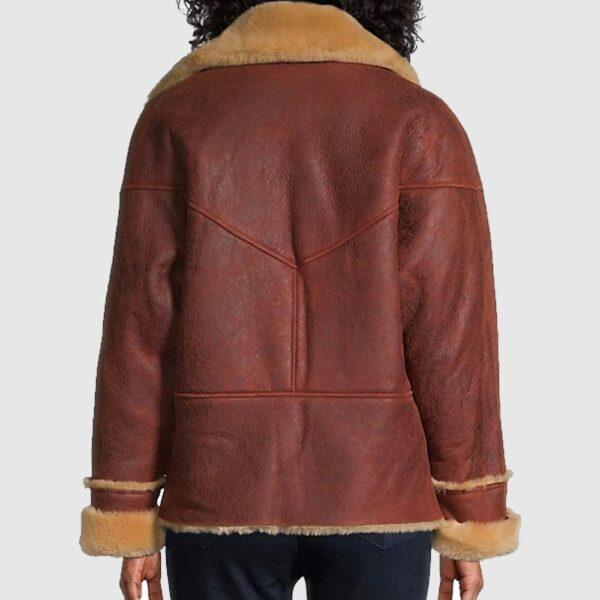 Sandro Shearling Moto Jacket