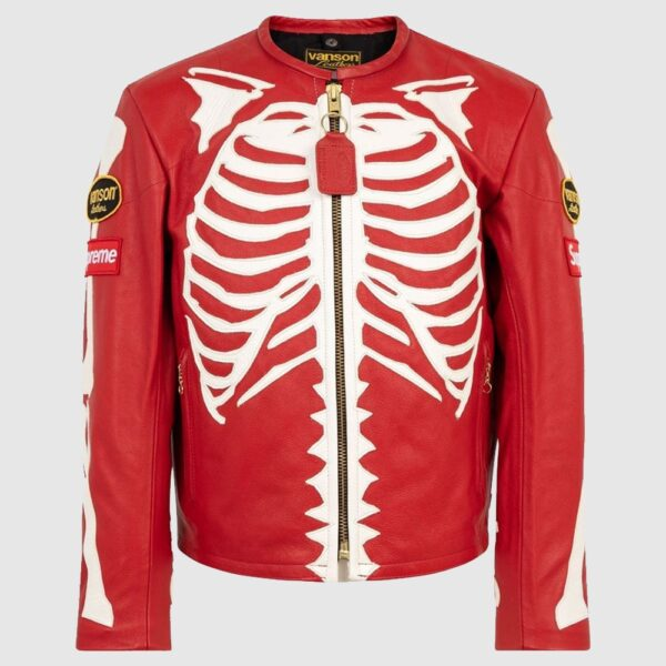 Supreme X Vanson Leather bones jacket