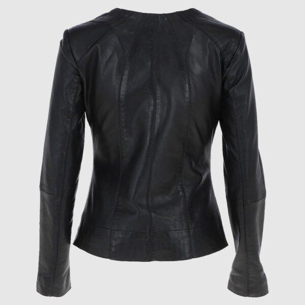 Aliona Leather Jacket Black